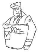 Mailman Drawing