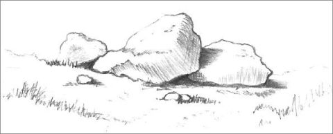 Rock formation drawing