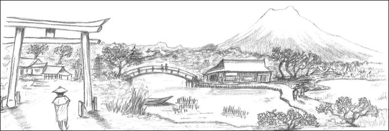 Japanese Landscape Drawing Japanese Landscape